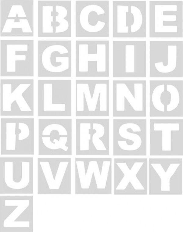 Plantillas abecedario unidad plantillas se alizaci n - Plantillas de letras para pintar paredes ...