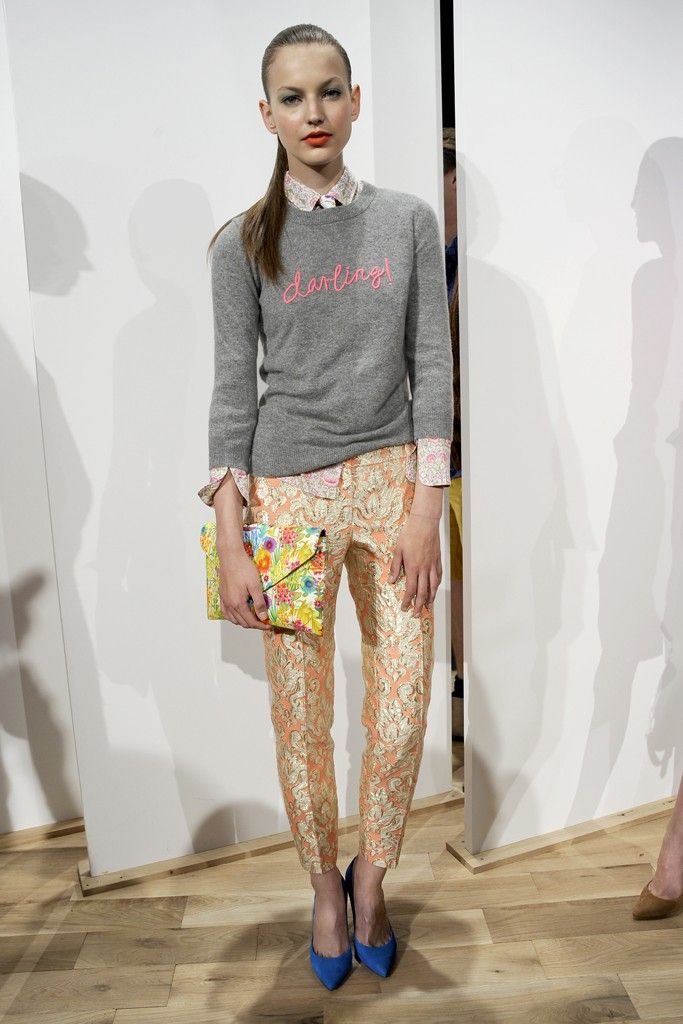 IDEA FOR A PLAIN SWEATER!!!   J.Crew RTW Spring 2013 - Runway, Fashion Week, Reviews and Slideshows - WWD.com
