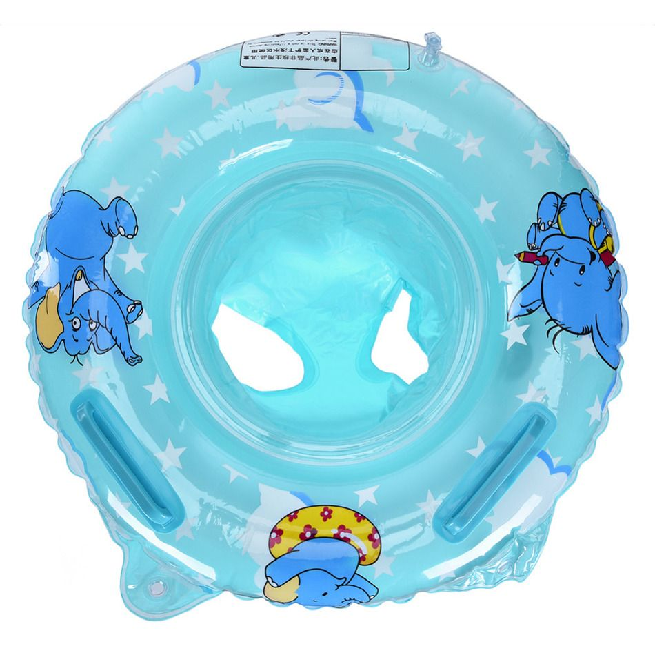 Double Handle Safety Baby Seat Float Swim Ring Inflatable Infant ...