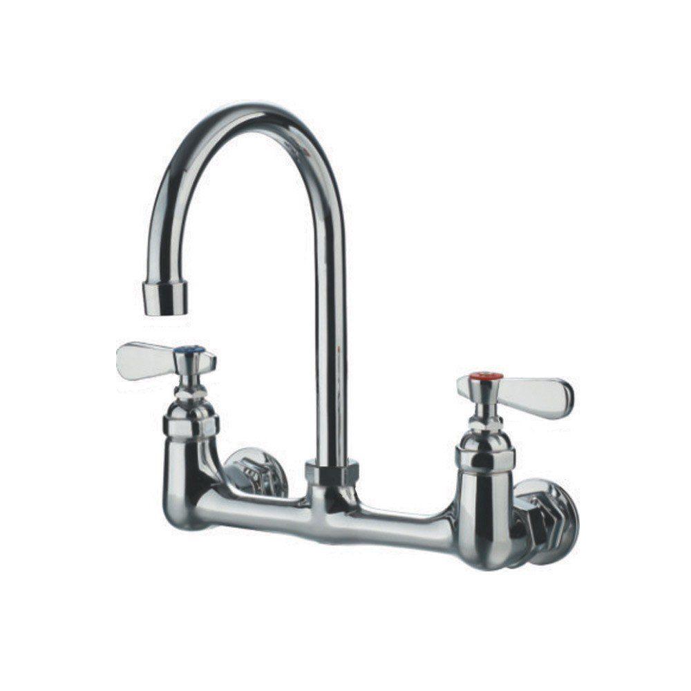 Randolph Morris Wall Mount Gooseneck Utility Faucet With Swivel
