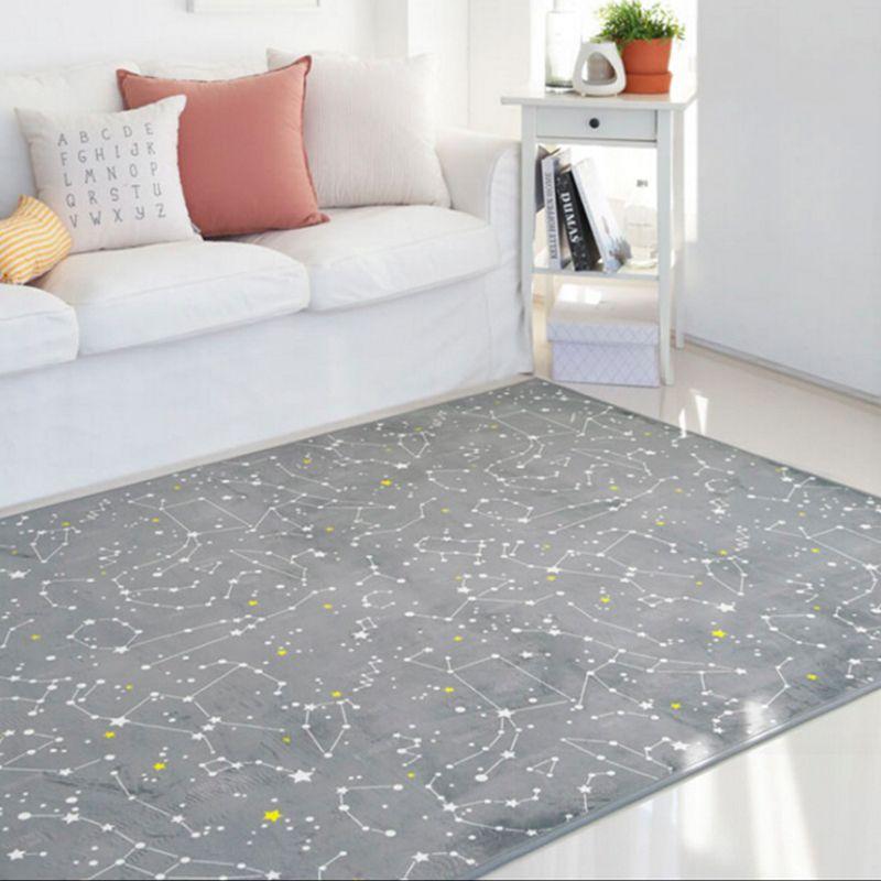 Gray Constellation Print large Area Carpet Modern living ...