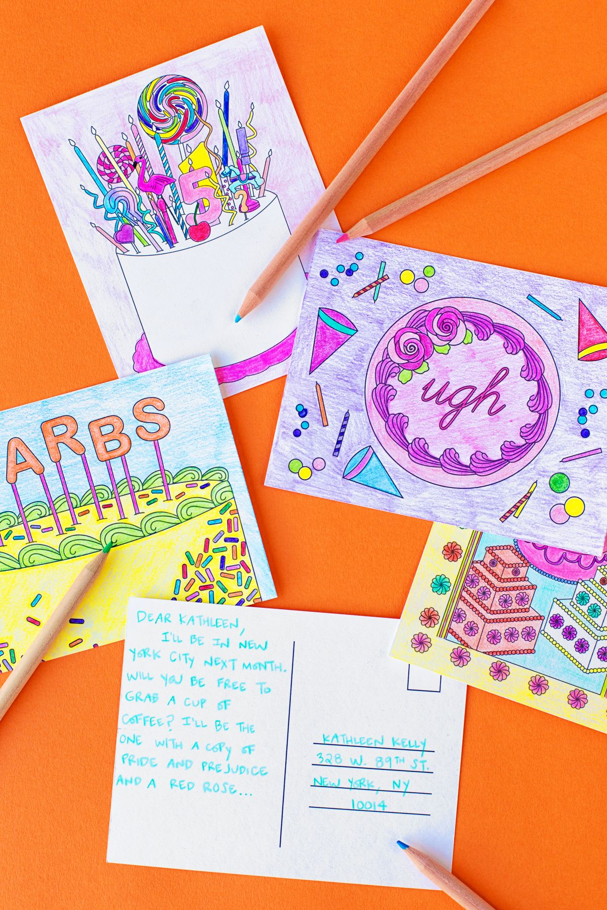 Free Printable Coloring Postcards | Pinterest | Manualidades niños ...