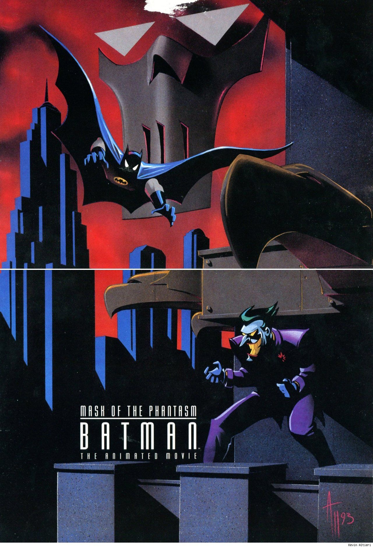 Batman: Mask of the Phantasm by Kevin Altieri (special thanks to Keane On Comics for the scan)    Read More: http://www.comicsalliance.com/2012/02/03/best-art-ever-this-week-02-03-12/#ixzz1maxVqxi4