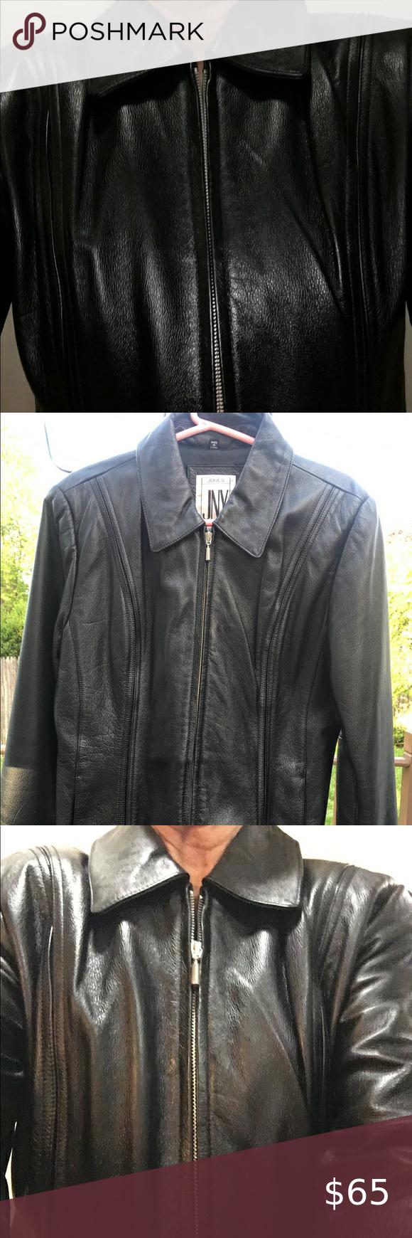 Jones Ny Black Leather Jacket Black Leather Jacket Leather Jacket Black Leather [ 1740 x 580 Pixel ]