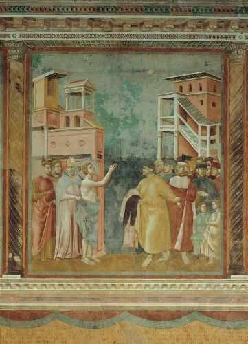 Stories Of St Francis St Francis Renounces His Fathers Goods And Earthly Wealth Poster Print 24 X 36 Medieval Art Art Giotto