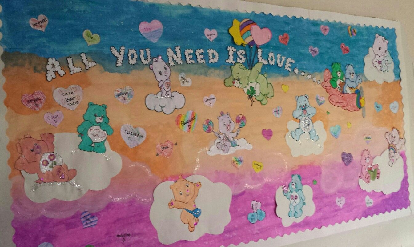 All You Need Is Love Care Bears Board Board Decoration