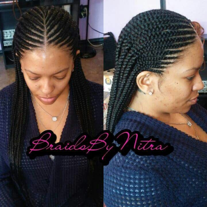 2 layer invisible knot cornrows
