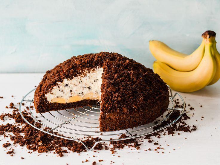 Maulwurfskuchen mit Banane   - Schnelle Kuchen -