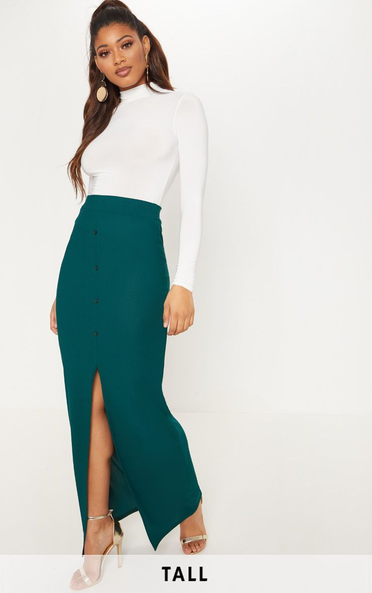977c7d871 Tall Emerald Green Button Front Maxi Skirt in 2019 | Products | Tall ...