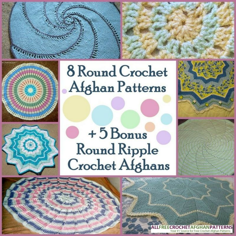 10 Round Crochet Afghan Patterns Chevron Crochet Patterns