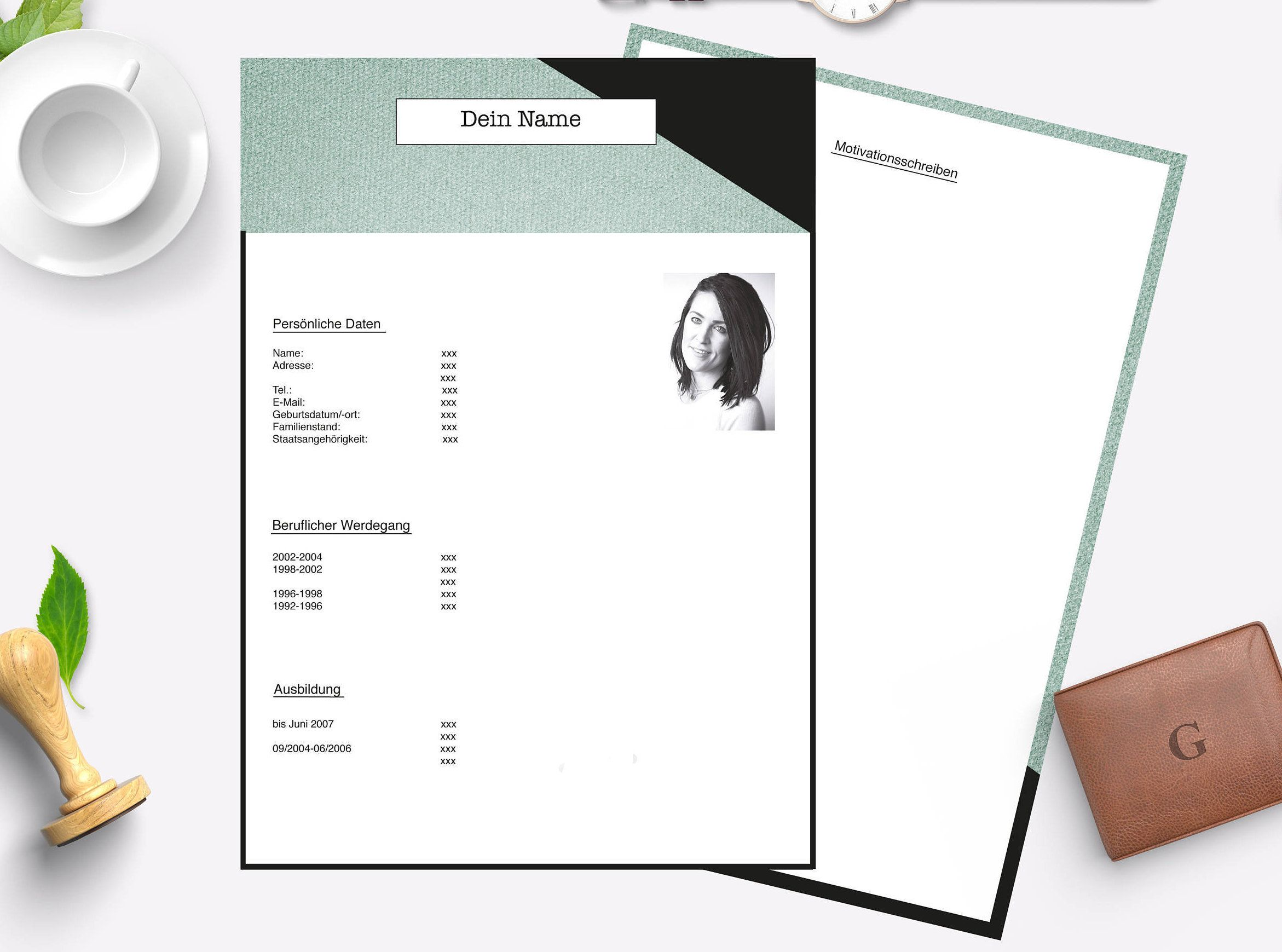 Lebenslauf-Vorlage 2 Seiten und zum ausdrucken von Baerenwerk auf ...