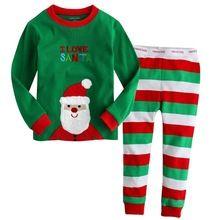 Komar Kids Boys Holiday Print 2 Piece Cotton Tight fit Pajama Set