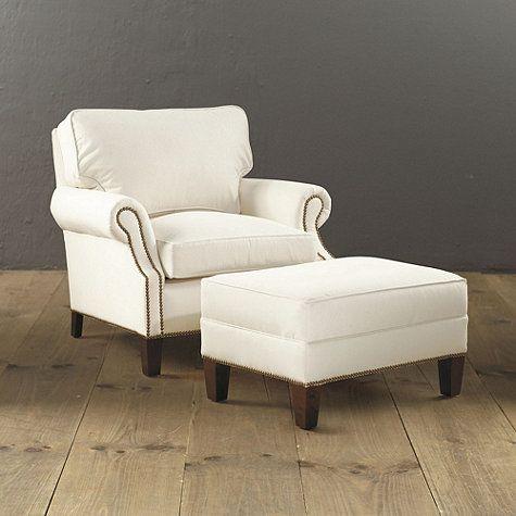 Nice Ballard Designs Stratford Chair And Ottoman W/ Ultra Comfy Cushions