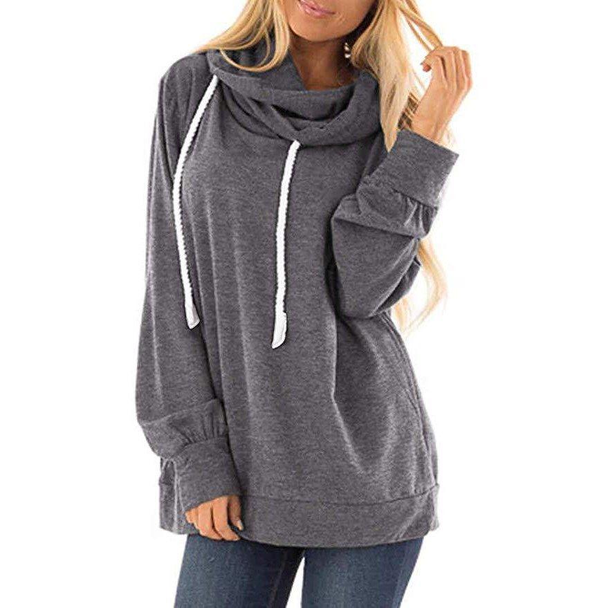 YYear Womens Zip-Up Casual Pockets Drawstring Hoodie Pullover Sweatshirt