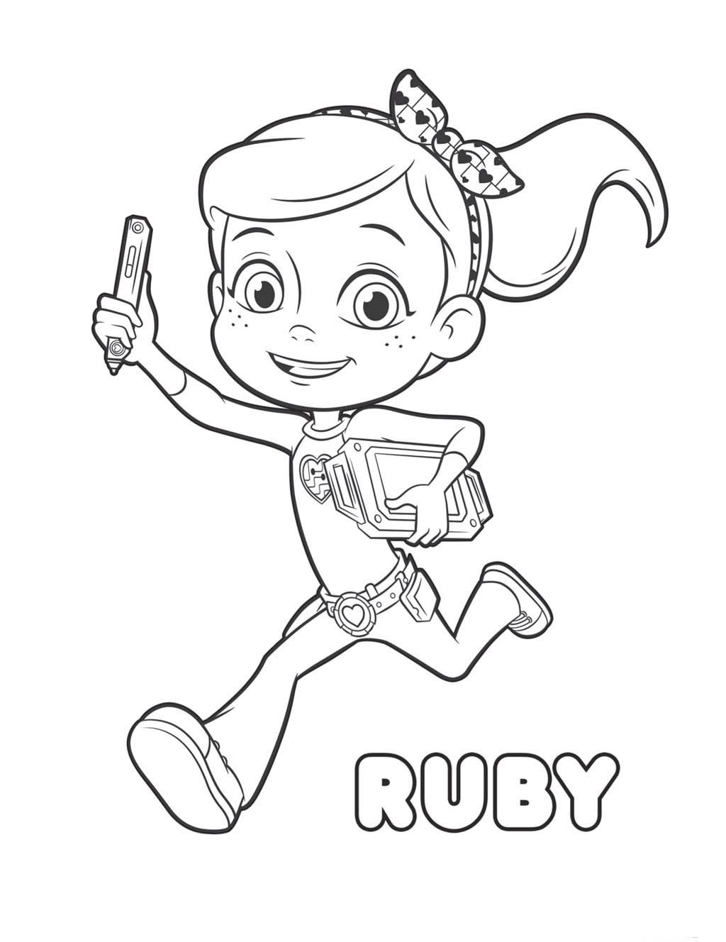 Desenhos para colorir do rusty rivets drawing pics for kids in