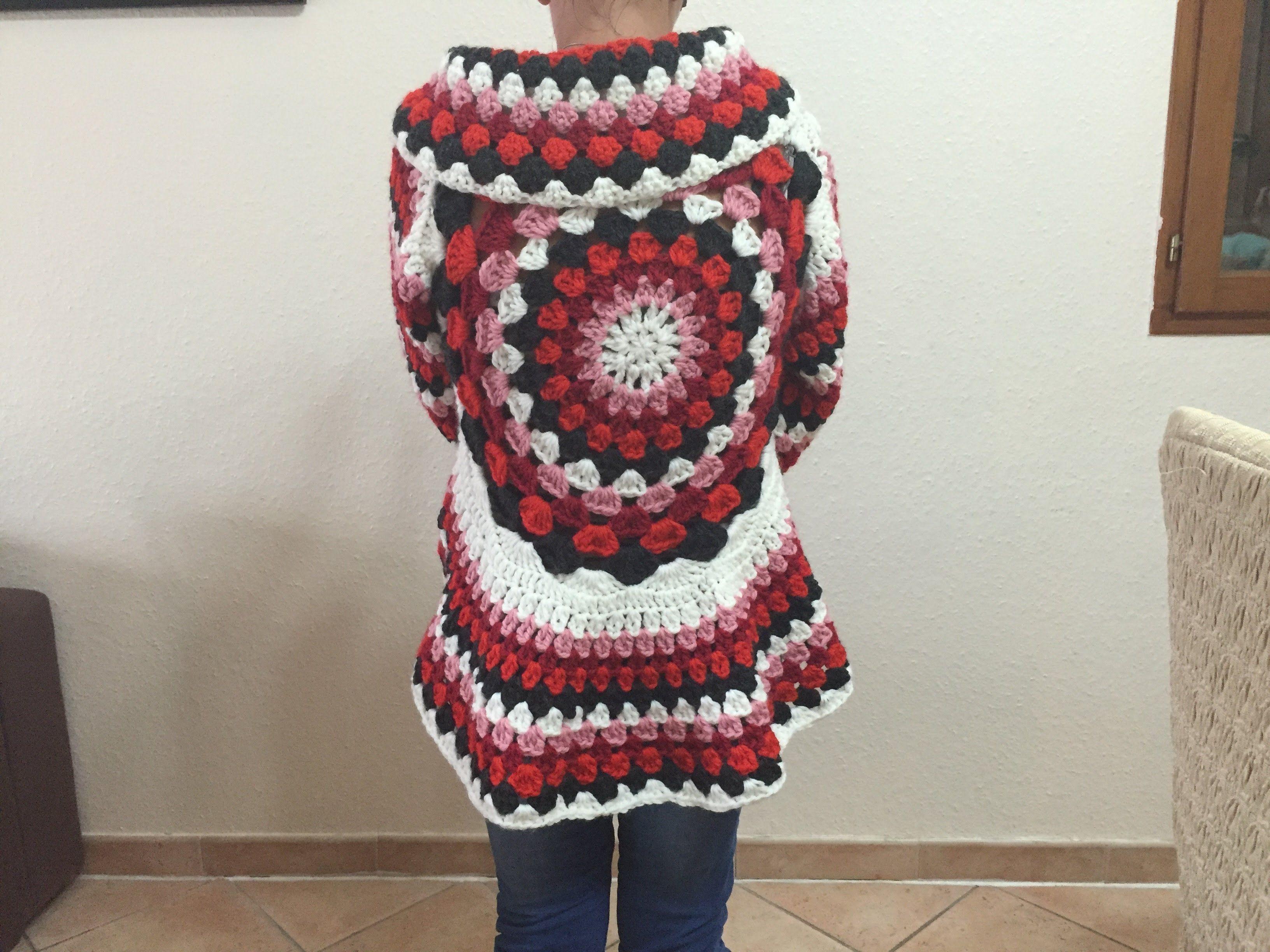 Tuto Gilet Cardigan Mandala Tout âge Au Crochet Crochet Vidéo