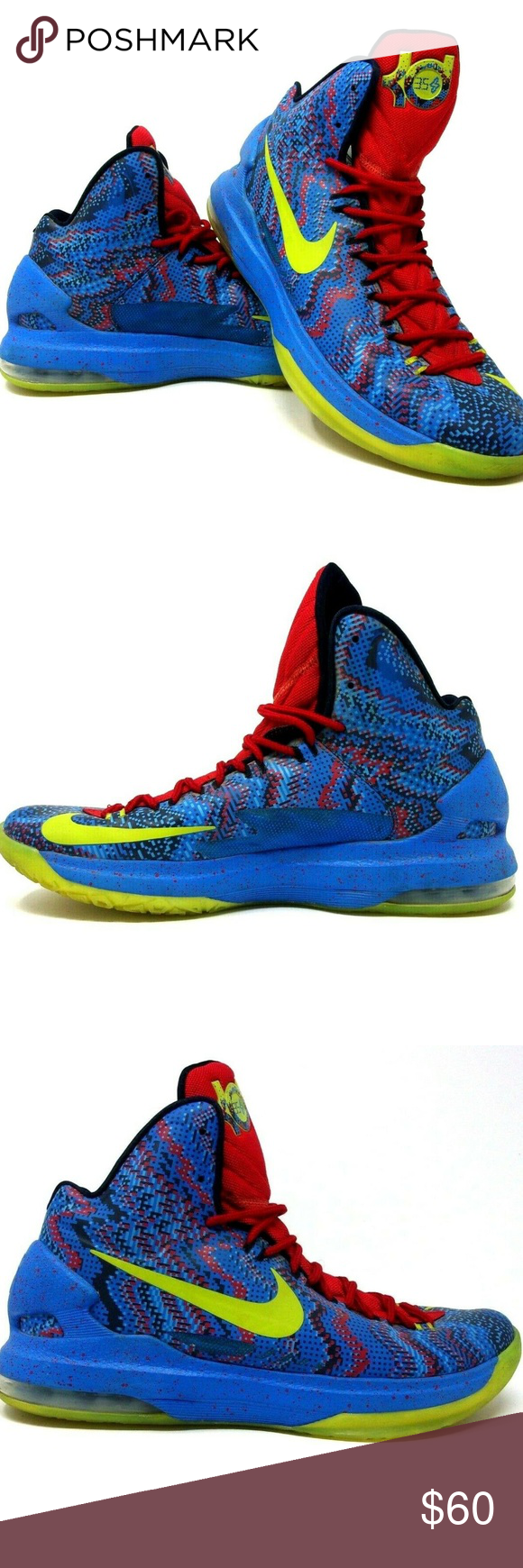 info for 22f33 c2923 Nike KD V Christmas Hyper Blue Atomic Green 5 Nike KD V Christmas Hyper Blue  Atomic Green 5 Size 11.5 2012 554988 401 Nike Shoes Athletic Shoes