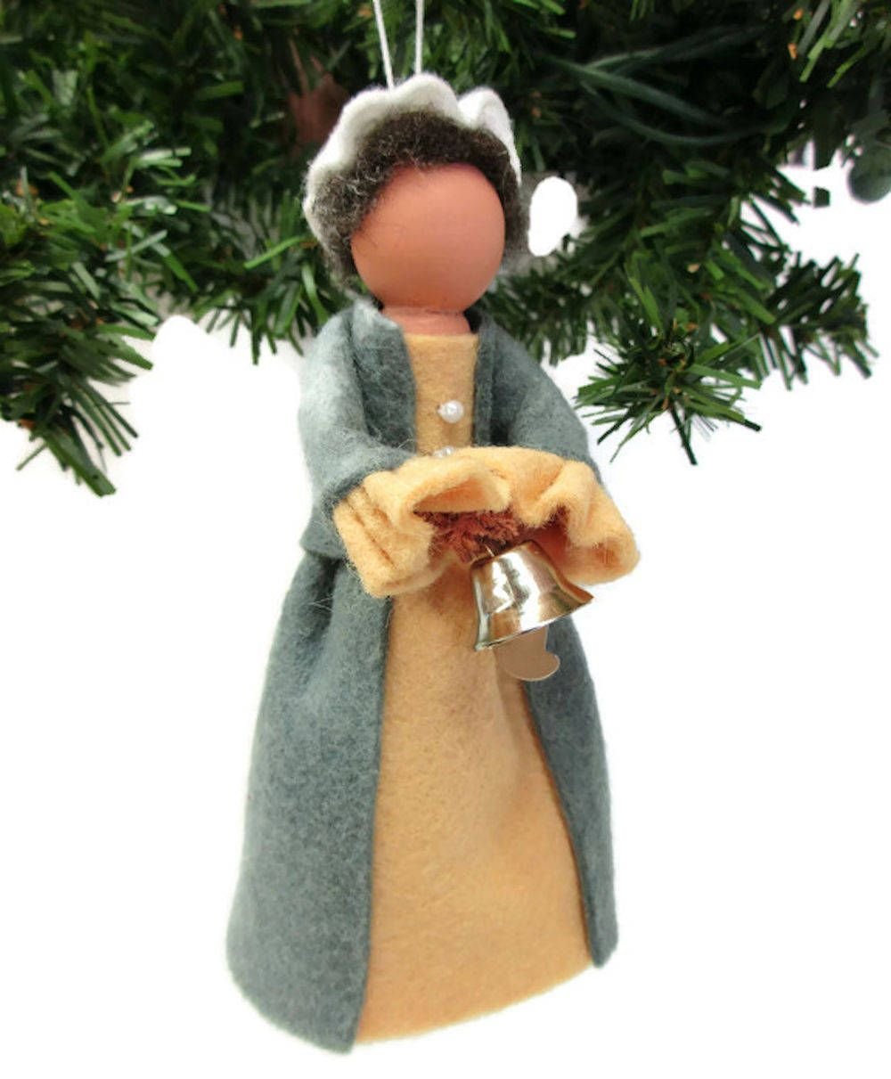 Colonial Lady Christmas Ornament, Clothespin Ornament ...
