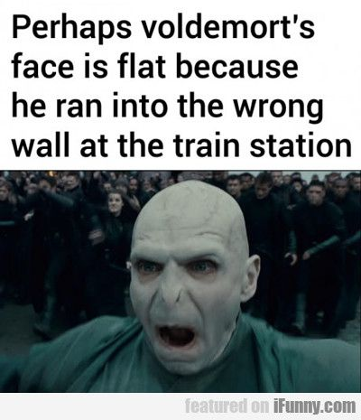 Perhaps Voldemort's Face If Flat Because... - http://localmarketingreport.net/perhaps-voldemorts-face-if-flat-because/