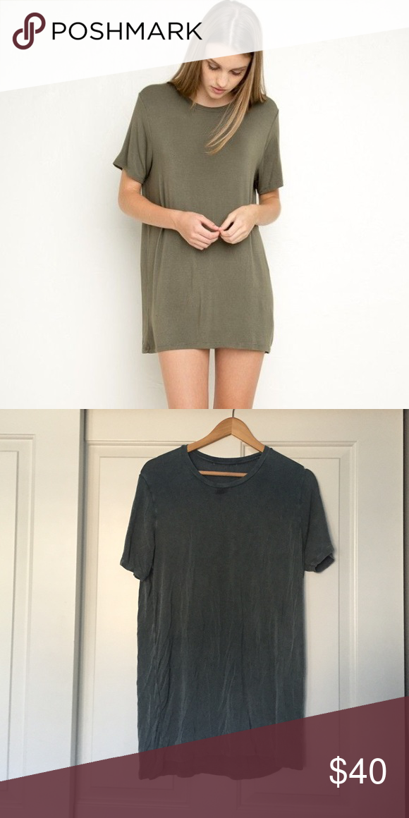 f3202edd5611 Green Brandy Tshirt Dress Never worn, dark green t shirt dress. It looks  darker in person, the second photo is more realistic to what the color  actually ...