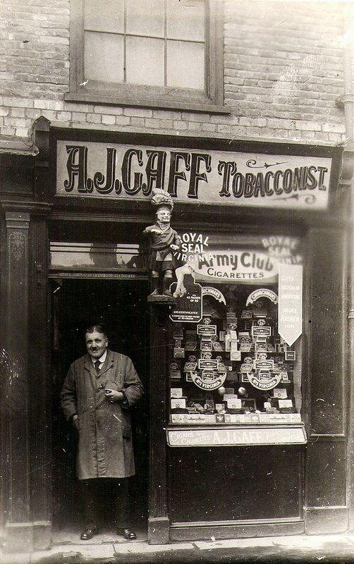 Arthur James Gaff, old shop front tobacconist shop in 2020