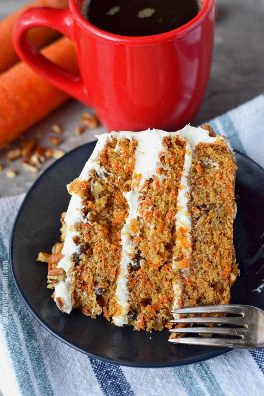 Carrot cake recipe with cream cheese frostingbutter your