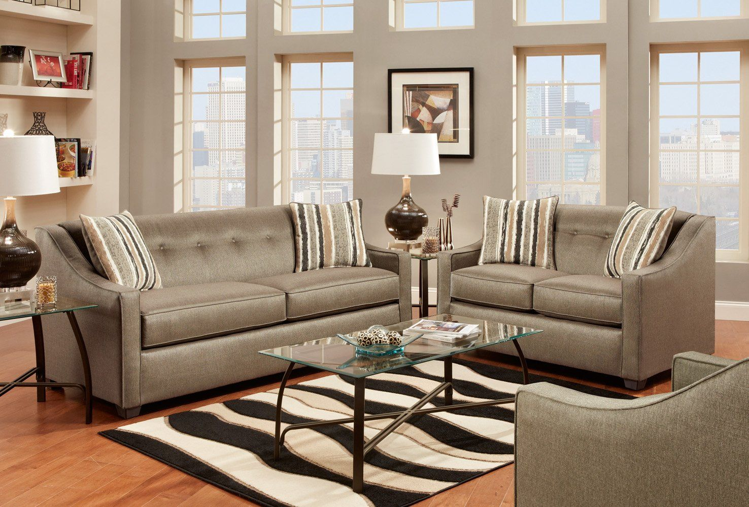 Best Stoked Pewter Living Room Duo Living Room Sets Furniture Ashley Furniture Living Room 400 x 300