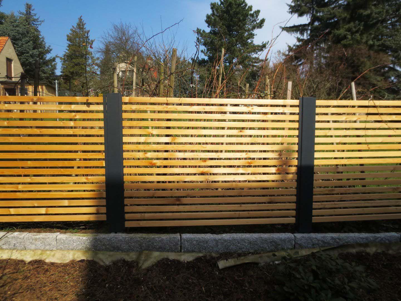 Sichtschutzzaun Holz Larche Metall Modern Secret 2 Stahlzart