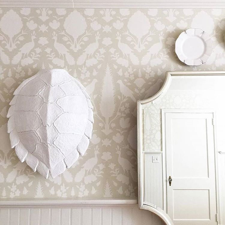 Here At Schumacher We Are Suckers For Detail Our Wallpaper Paired With White Accents And A Pretty Mirror Makes One Elegant Nursery