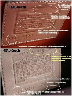 How To Spot A Fake Coach Bag Pictures And Videos Here Coach Bags Outlet Vintage Coach Bags Coach Bags