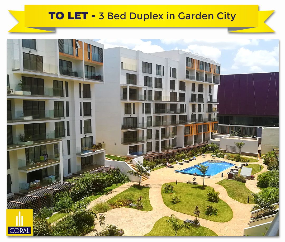 3 Bedroom Duplex Apartment To Let For Sale In Garden City