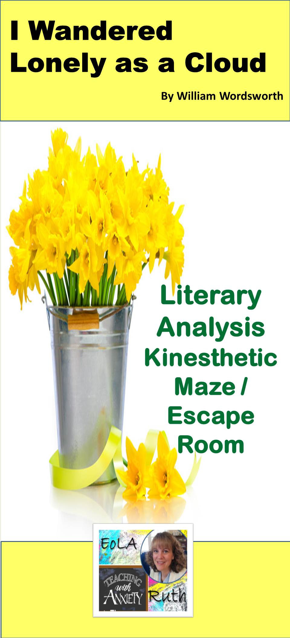I Wandered Lonely A Cloud Kinesthetic Maze Escape Room Learning Lesson Theme Of