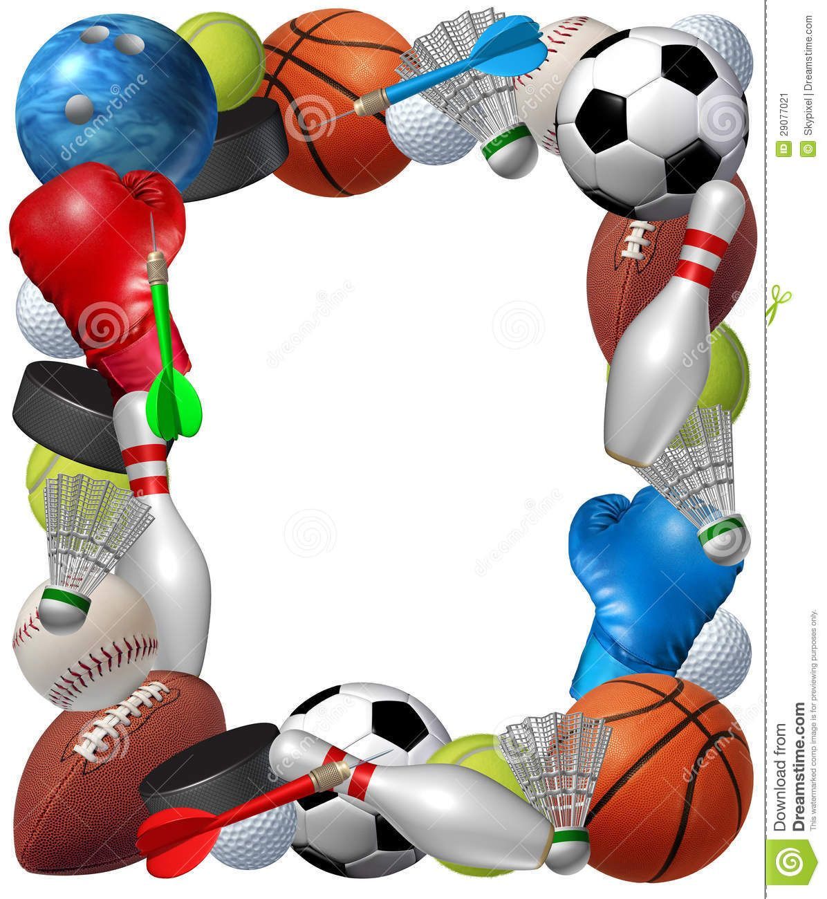 00c1b6af33bd 55 Awesome sports themed border clip art