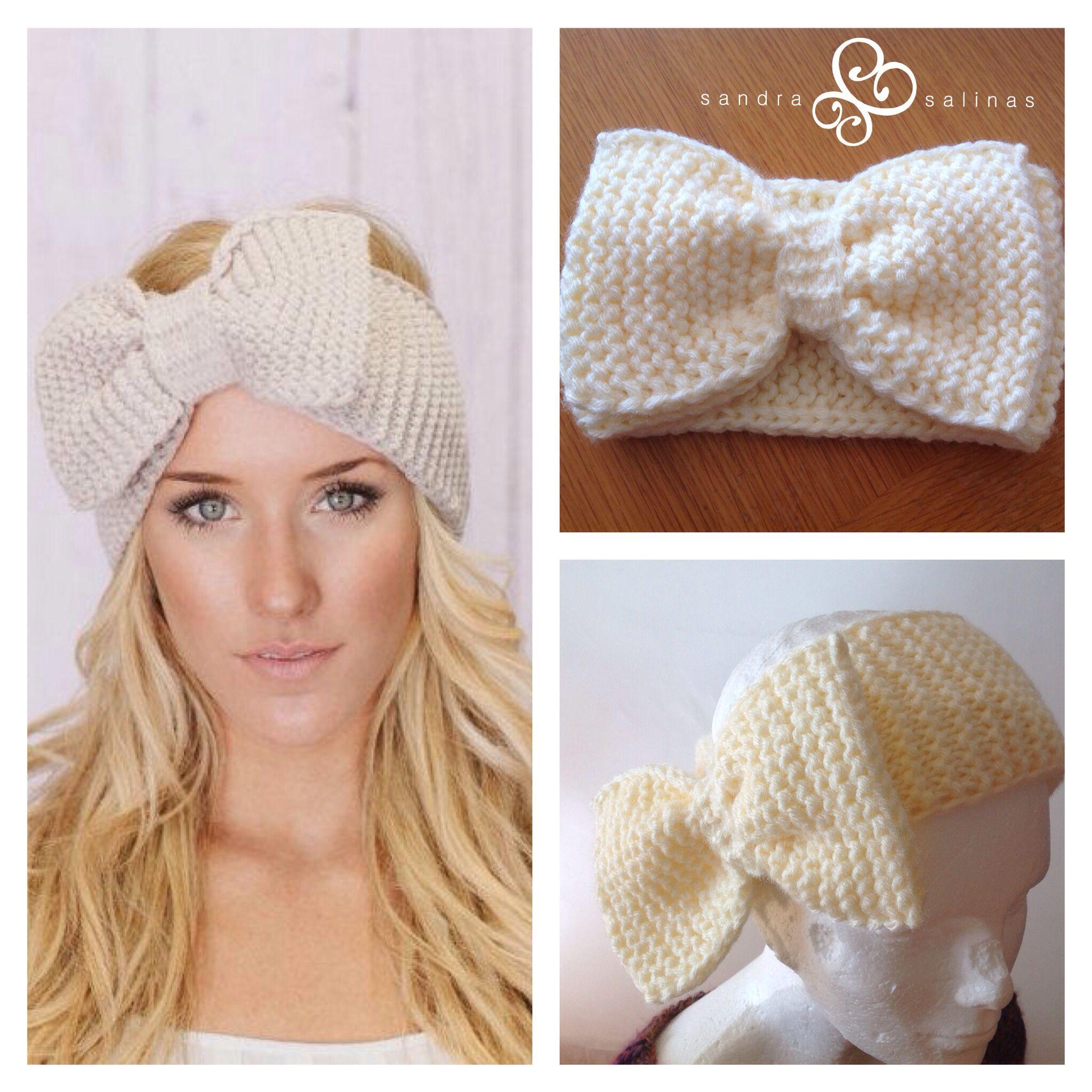 Diadema tejida con mo o tejidos crochet clothes - Diademas de ganchillo ...