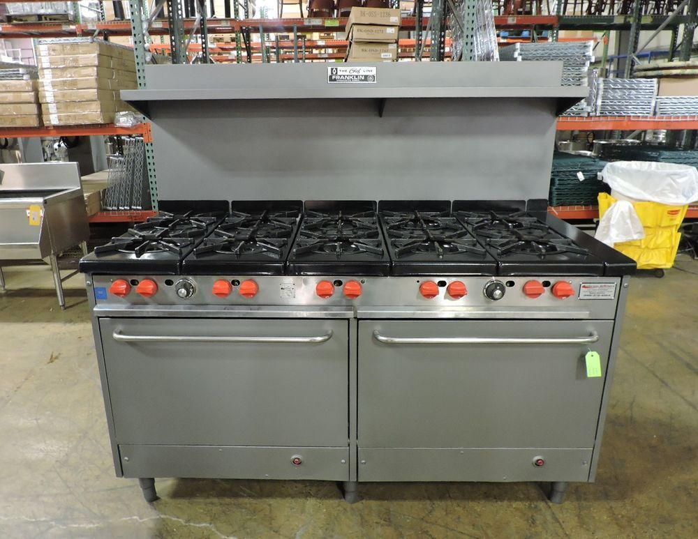 Franklin Chef Gr11ax Commercial 10 Burner Gas Range W 2 Standard Ovens Franklinchef Restaurant Equipment Kitchen Appliances Lunch Catering
