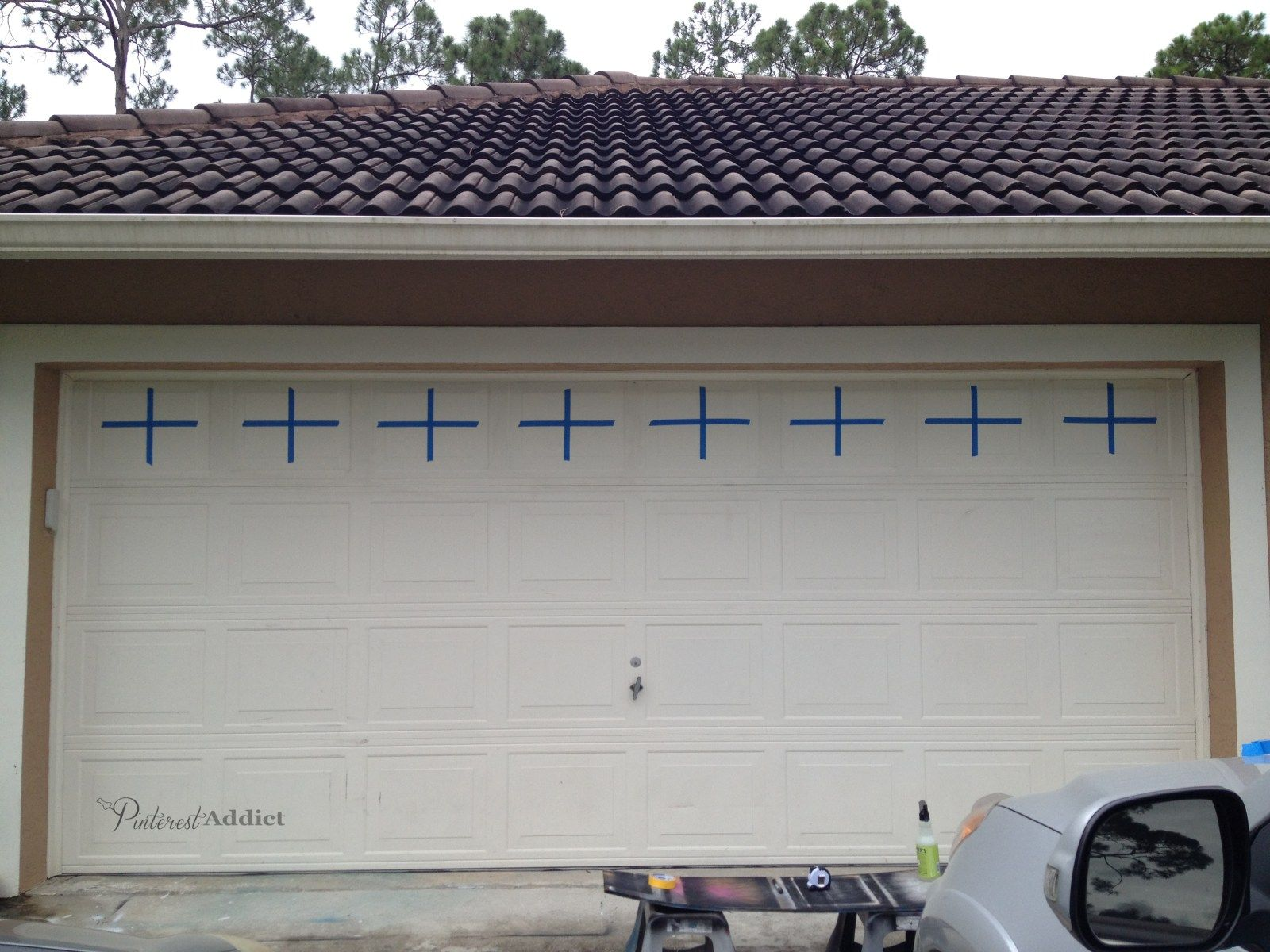 faux carriage garage doors. Interesting Doors Faux Carriage Garage Door  Faux Carriage Garage Door Taped Off The  Center Lines With 1 On Doors A