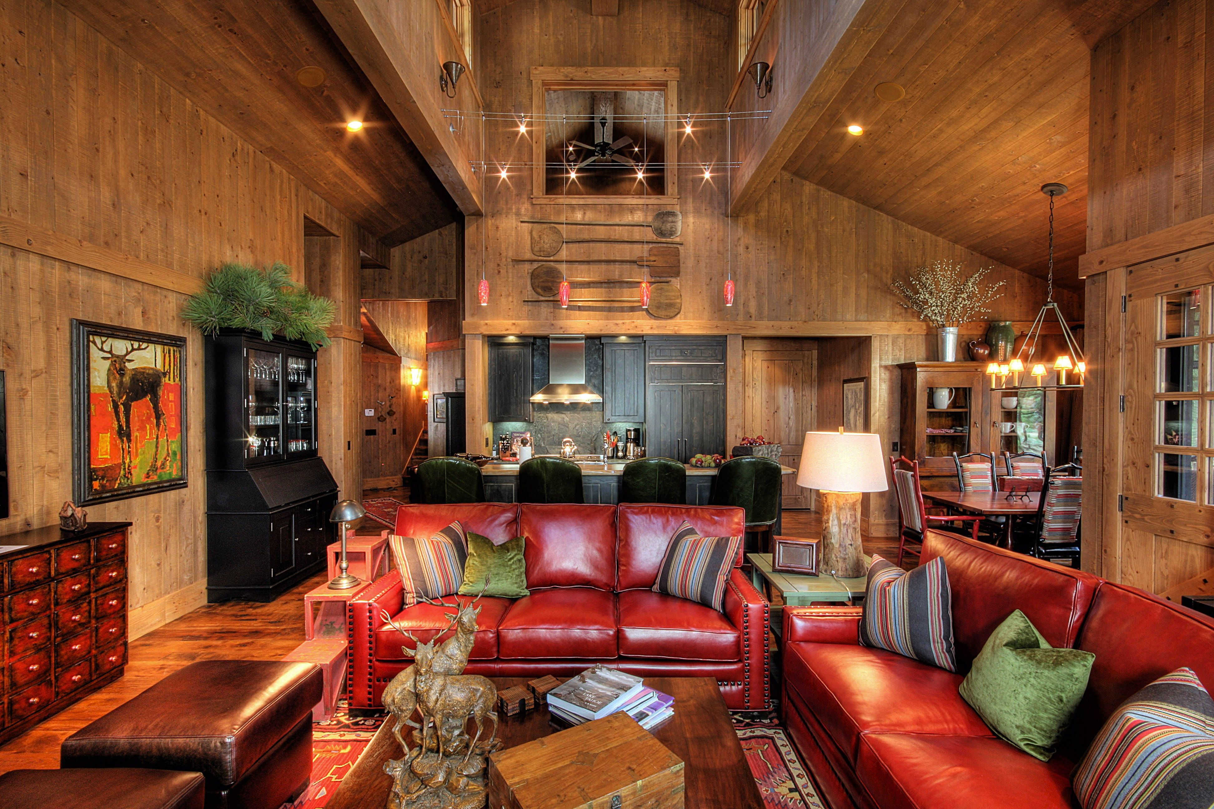 Martis Camp @swabackpartners | Rustic family room, Living ...