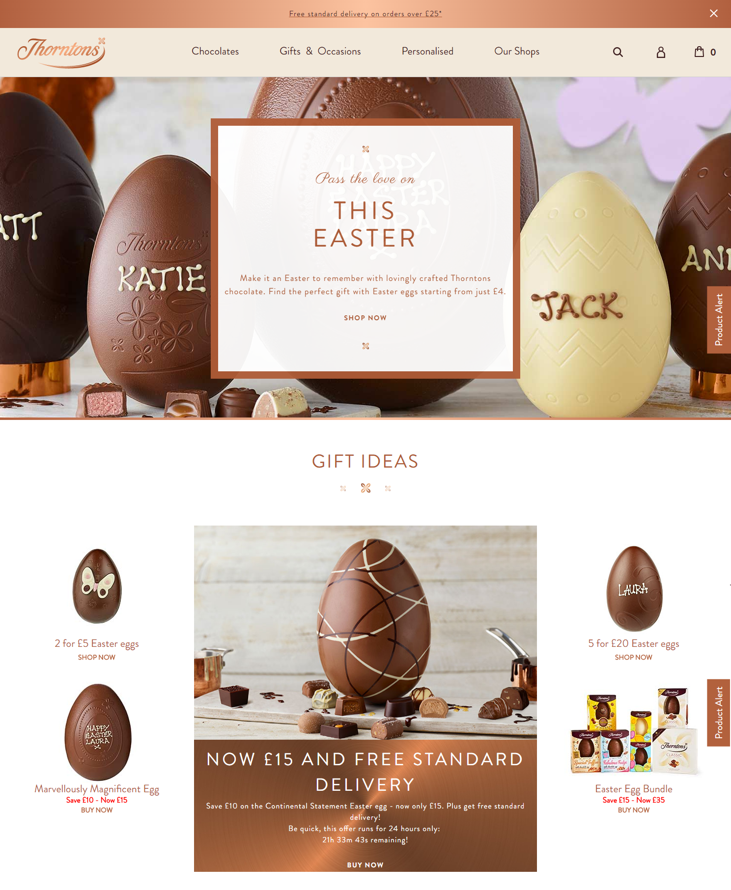 Thorntons home page with gift ideas and countdown timer to end of thorntons home page with gift ideas and countdown timer to end of offer digital easter chocolatechocolate giftscountdown timersmarketing negle Gallery