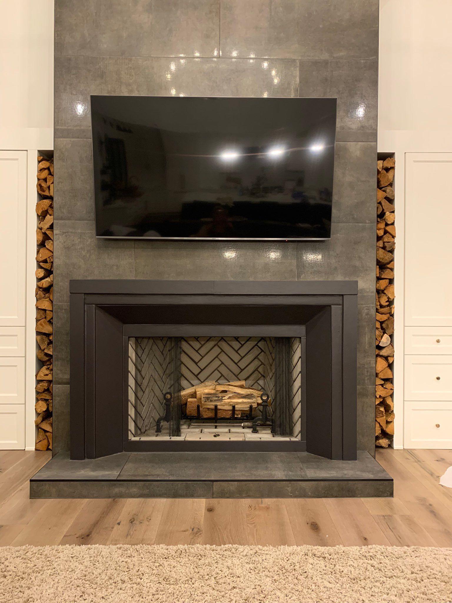 custom cast stone fireplace surround