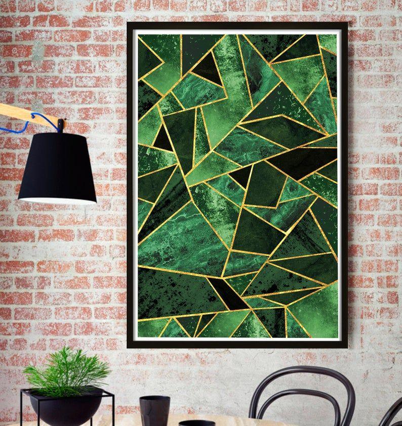Malachite Print Emerald Wall Art Decor Scandinavian Print Decor Abstract Texture Print Room Decor Scandinavian Print Tiger Wall Art Graphic Poster