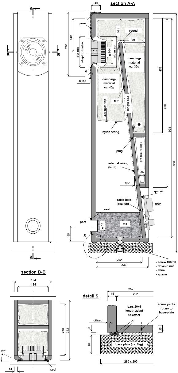 Enclosure Plan - Fostex FX120 ML-TQWT | Audio