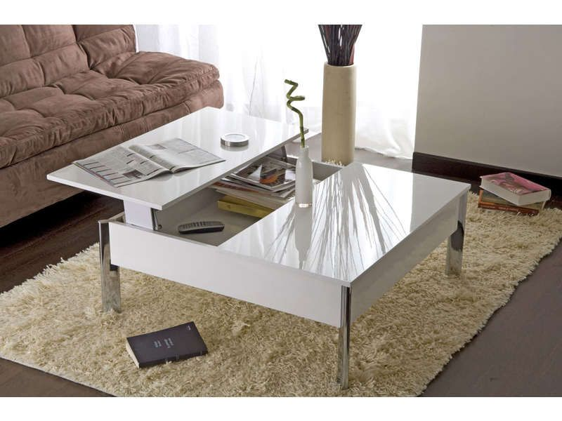Table basse conforama promo table pas cher achat table basse largo coloris b - Table relevable conforama ...