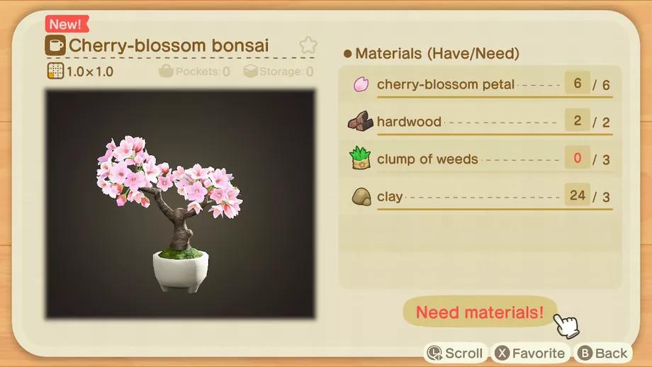 Animal Crossing New Horizons Switch Cherry Blossom Recipe List Polygon Animal Crossing Cherry Blossom Cherry Blossom Season
