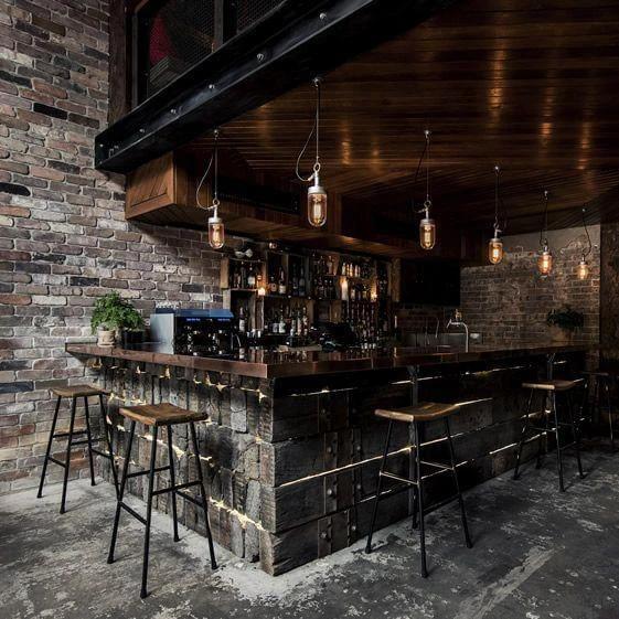 50 Elegant Industrial Style Home Bar Ideas Bar Interior Bar