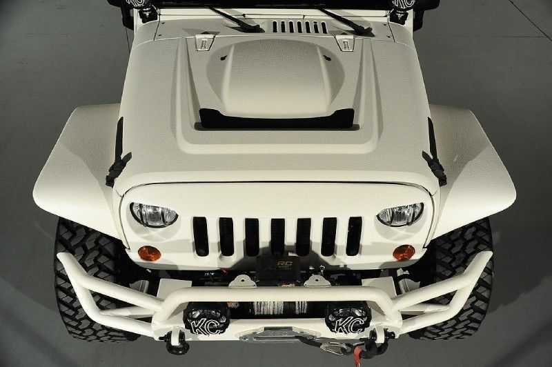 Close up view of the AEV heat reduction hood. (With images
