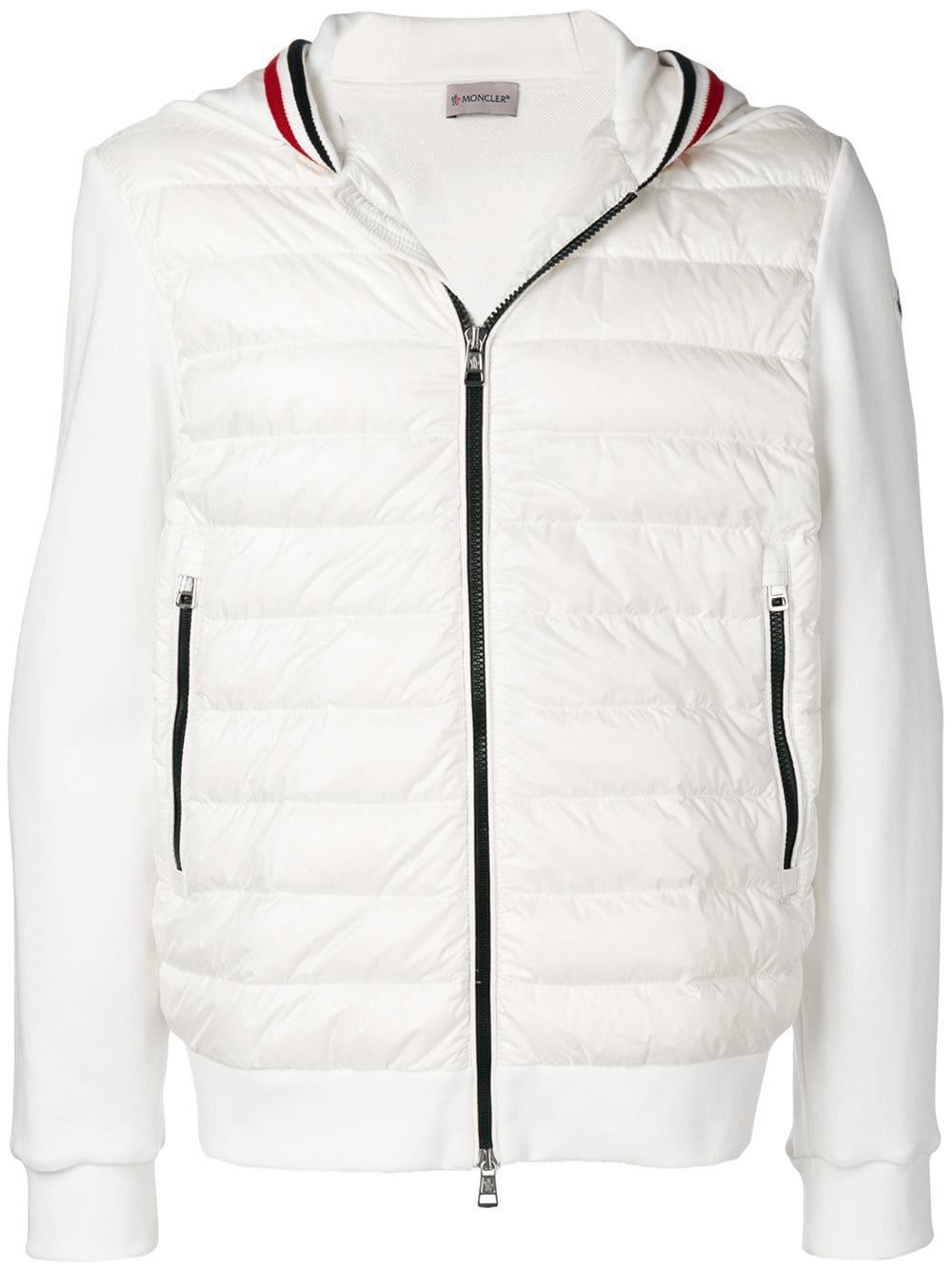 1e73e7dec MONCLER MONCLER PADDED HOODIE - WHITE. #moncler #cloth | Moncler in ...