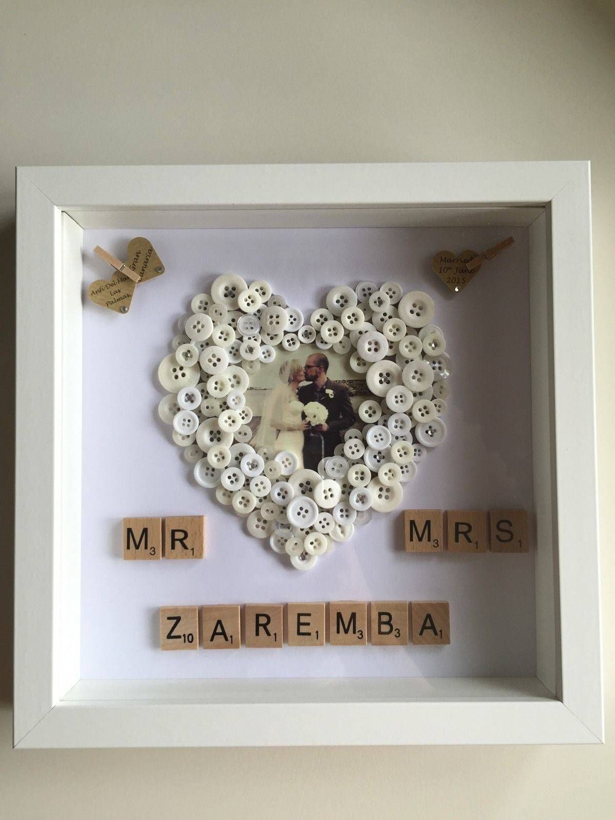 Inspirational Homemade Picture Frame Ideas Https Homecreativa Com Inspirational Homemade Pic In 2020 Homemade Picture Frames Homemade Pictures Wedding Frame Gift