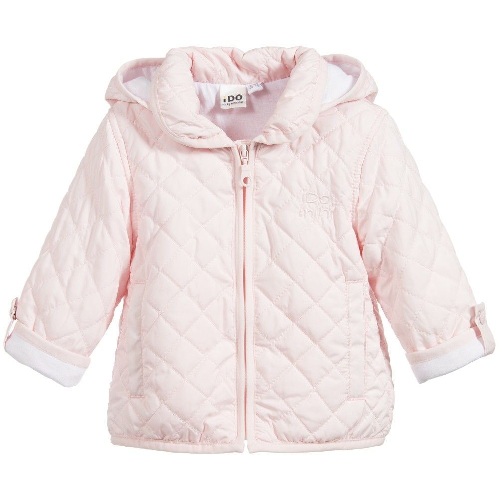iDo Baby Girls Pale Pink Lightweight Quilted Jacket at ... : baby quilted jacket - Adamdwight.com