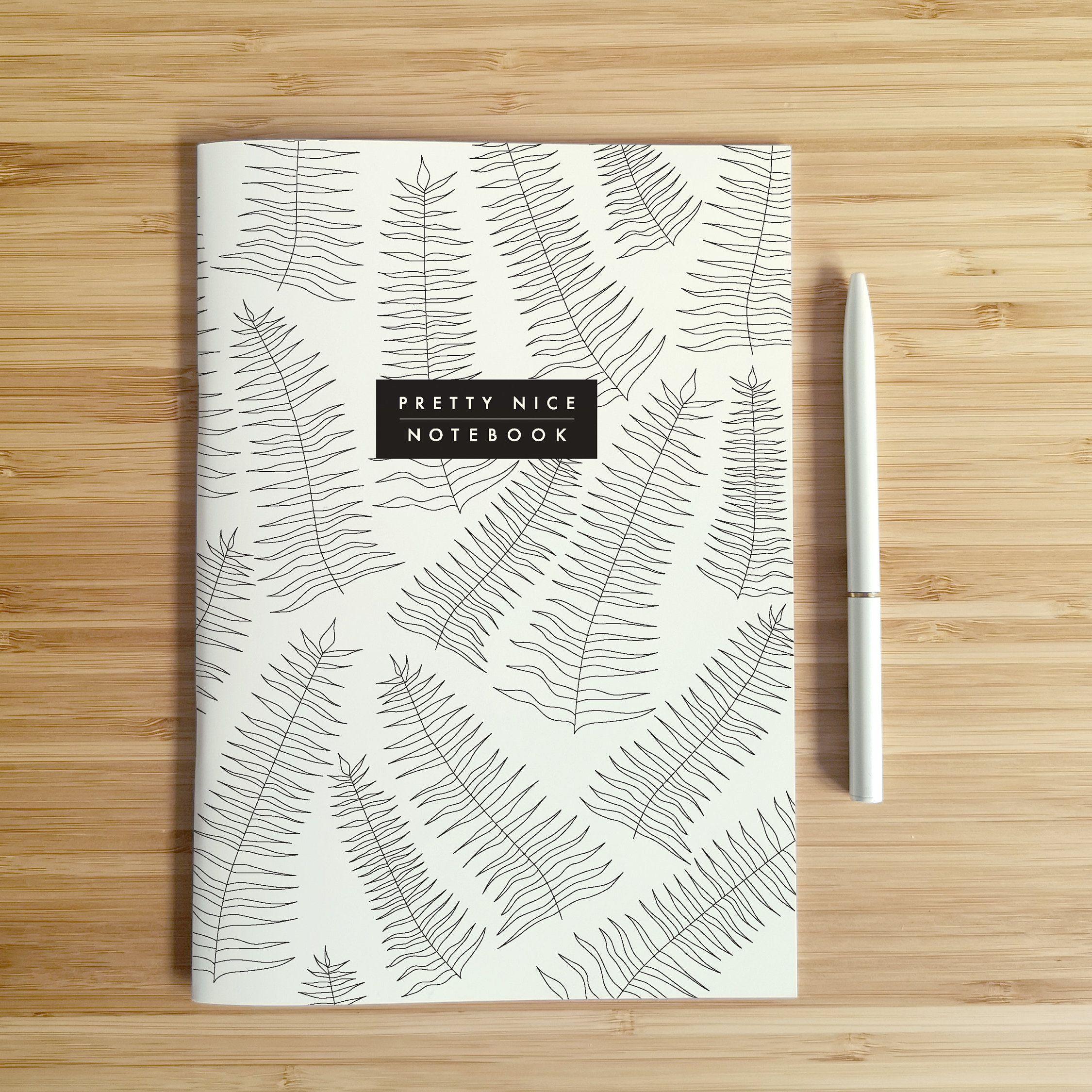 Notebook A5 Leaves Notizbuch A5 Blatter Etsy Notebook Cover Design Diy Notebook Cover Cover Design Inspiration