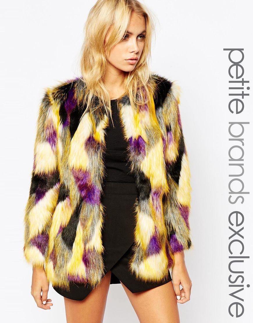 Tiger Mist Petite Patched Faux Fur Coat | COATS ARE US | Pinterest ...